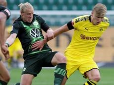 Treinador do Dortmund minimiza lesão de Haaland. AFP