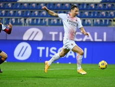 Ibrahimovic habló tras su doblete frente al Cagliari. AFP