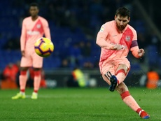 Messi is one of the game's best free-kick takers. AFP