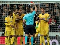 Buffon, sancionado con tres partidos. AFP