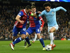City lost 2-1 to Basel on the night. AFP