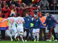 España empata en Suecia y está en la Eurocopa. AFP