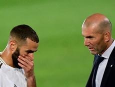 Zidane y Benzema, representantes franceses y claves en el triunfo. AFP
