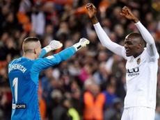 El Valencia espera la continuidad de Diakhaby. AFP