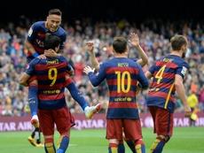Luis Suarez a parlé de Neymar. AFP