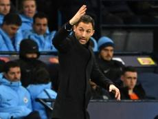 Tedesco's time at Schalke has come to an end. AFP