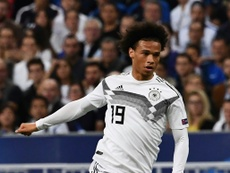 Sane was one of the protagonists in the win over Russia. AFP