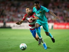 Ansu Fati won't sign for the Barca first team. AFP