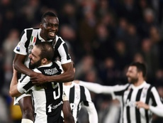 La Juventus es líder a cuatro puntos del Nápoles. AFP