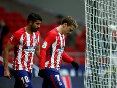 Griezmann et Costa n'y arrivent pas. AFP