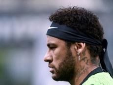 L'attaquant brésilien du PSG Neymar lors d'une séance d'entraînement le 11/05/19. AFP