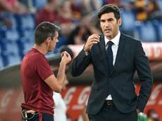 L'entraîneur portugais de l'AS Rome Paulo Fonseca lors du match contre Sassuolo, le 15 septembre 2019 au Stade Olympique de Rome