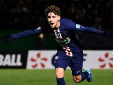 Adil Aouchiche signe à Saint-Étienne. AFP