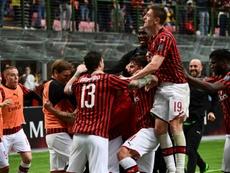 Milan demande à ne pas jouer la prochaine Europa League. AFP