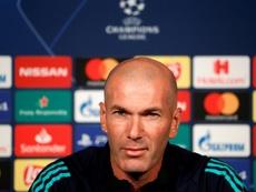 Zidane manda mensagem aos fãs. AFP