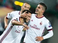 André Silva ha hecho historia en el Milan. AFP