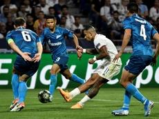 Lyon y Zenit empatan. AFP