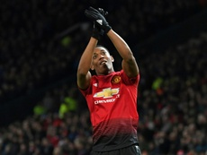 Martial has turned his form around in recet weeks. AFP