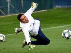 La lesión deja a Keylor sin Costa Rica. AFP