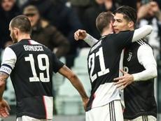 Benatia est impressionné par Cristiano Ronaldo. AFP