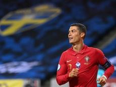 Cristiano habló sobre el fútbol sin público. AFP