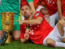 Ribéry recordó el Balón de Oro de 2013. AFP