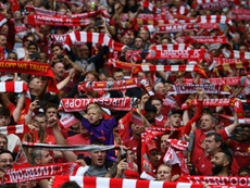 The violence occured outside Anfield on 24 April. AFP