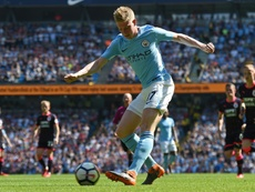De Bruyne could return to action sooner than first expected. AFP