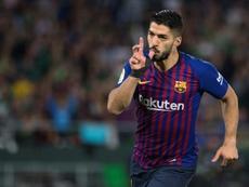 Le Barça confirme la blessure de 15 jours de Luis Suarez. AFP