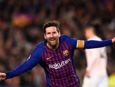 Messi cola-se aos históricos do clube e da liga espanhola. AFP