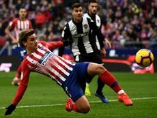 Griezmann foi o autor do único gol válido da partida. AFP