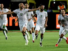 Mahrez's stunning free-kick sent Algeria through to the final. AFP