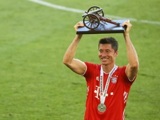 La temporada de Lewandowski, para 'The Best' según Flick. AFP