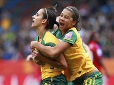 Australia footballer Samantha Kerr (R). EFE/Archivo