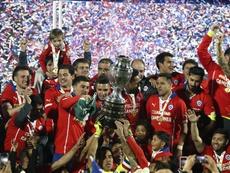 Chile alzó su primer título en 2015. EFE