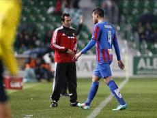 El defensa David Navarro llegó al Alcorcón tras cuatro temporadas en el Levante. EFE