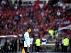 Messi, durante la final de la Copa América de Chile 2015. EFE