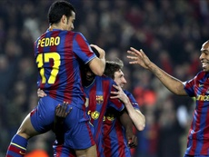 Henry played with Messi for three seasons. EFE