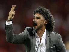 El entrenador de Independiente de Medellín se llevó un gran varapalo ante Santa Fe. EFE/Archivo