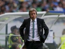 O técnico 'leonino' não deixou de comentar o resultado do Benfica. EFE/Archivo