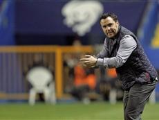 El técnico del Valladolid, contento con el resultado ante el Numancia. EFE/Archivo