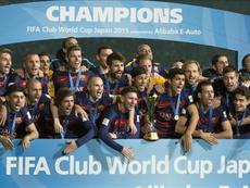 El Barça ganó su último 'Mundialito' en 2015. EFE/EPA/Archivo