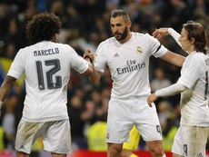 Modric alabó a Karim Benzema. EFE