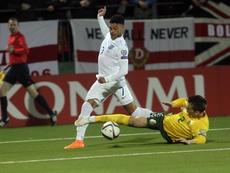 Inglaterra cumplió ante Lituania. EFE