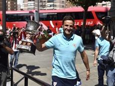 Gurpegui, el último que levantó un título para el Athletic. EFE
