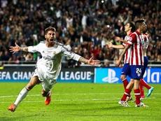 Sergio Ramos rememoró su histórico gol en Lisboa. EFE/Archivo