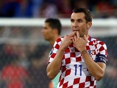 Darijo Srna during a match with Croatia. EFE/EPA