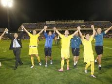 El Cádiz acabó con el sueño de Segunda del Hércules hace un año. EFE/Archivo