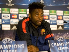 Alex Song's career has gone in to decline since signing for Barcelona. EFE