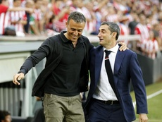 Luis Enrique supported Valverde. EFE
